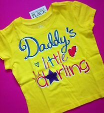 """NEW! """"Daddy's Little Darling"""" Baby Girls Graphic Shirt 4T Gift! Dad Father's Day"""