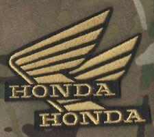 CAFÉ RACER ROCKERS 59 TON-UP BOYS IRON-ON PATCH: HONDA Gold Wing HONDA LOGO SET