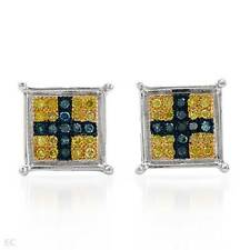 Lovely Cross Earrings With Genuine Diamond Made in 14K/925 Gold plated Silver