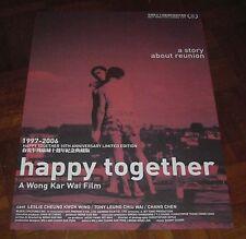 "Wong Kar-Wai ""Happy Together"" Leslie Cheung Overseas English ORIGINAL POSTER"