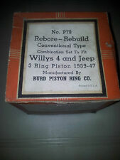 NOS ORIGINAL BURD BRAND PISTON RING SET 010 FOR 1939-47 JEEP WILLYS 134 ENGINE