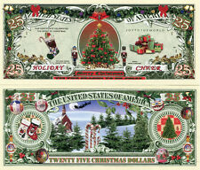 Holiday Cheer 1 Million Dollars Christmas Color Novelty Money Fun Item