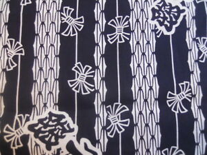 Japanese Cotton Yukata Fabric blue and white 406r