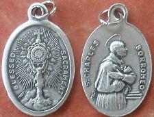 Holy Communion Blessed Sacrament of Jesus CHALICE Medal + St. Charles Borromeo