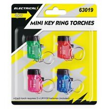 New Mini Keyring Torches With Key Ring Flashlight 4 Pack Included Batteries