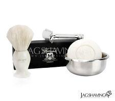 Doble Borde Seguridad Navaja Afeitar Set tejón brocha de afeitar libre Wilkinson Blades