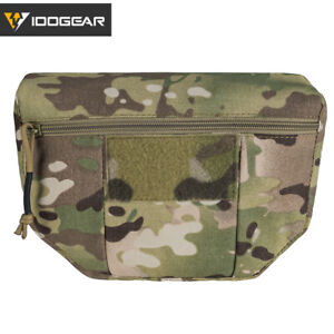 IDOGEAR Tactical Armor Carrier EDC Drop Pouch AVS JPC CPC Pouch Airsoft Military
