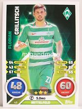 Match Attax 2016/17 Bundesliga - #045 Florian Grillitsch - SV Werder Bremen