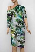 Damen MARC CAIN Mehrfarbig viskose & Elasthan Kleid Dress  Gr. N3 / 38