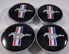 "4x Ford Mustang Cobra R GT Black Horse 5R3Z1130BA Wheel Center Hub Cap 60MM 2.3"""