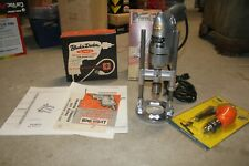 """Vintage Black and Decker 1/4"""" Deluxe utility drill and drill guide, right angle"""