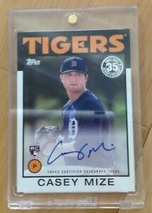 CASEY MIZE 2021 TOPPS 1986 35TH ANNIVERSARY RC AUTOGRAPH CARD 86A-CM- TIGERS