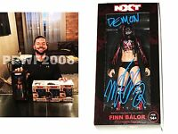 WWE FINN BALOR HAND SIGNED DEMON STATUE ACTION FIGURE 2K16 WITH PHOTO PROOF COA