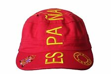 ESPANA SPAIN RED MILITARY STYLE COUNTRY FLAG HAT CAP .. WC.. NEW 8154fdb8f27