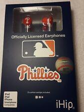 New MLB Baseball Philadelphia Phillies IHIP Ear buds Earphones