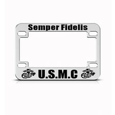 Metal Bike License Plate Frame Semper Fidelis Style A Motorcycle Accessories