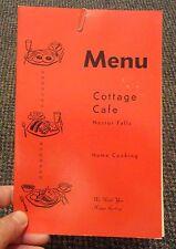 1960s Nestor Falls Ontario Canada Cottage Cafe menu