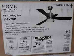 Home Decorators Collection Hexton 52 in. LED Indoor Brushed Gold Ceiling Fan