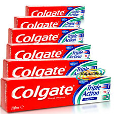 6x Colgate Triple Action Original Mint Toothpaste 100ml Fluoride Tooth Paste