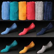 Hombre silicona antideslizante invisibles calcetines algodón escotado Calcetines
