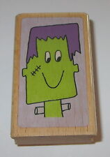 Frankenstein Rubber Stamp Halloween Monster Excellent Used Condition Bolts Neck