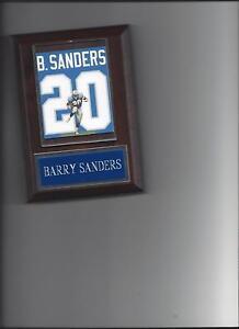 BARRY SANDERS JERSEY PLAQUE DETROIT LIONS FOOTBALL NFL