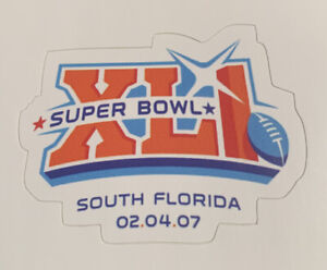 """Superbowl 41 Football Sticker XLI Indianapolis Colts Chicago Bears 2.6"""" x 2"""""""