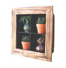 Metal with Wood Framed Wall Display