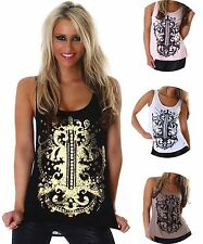 Ärmellose hüftlange gepunktete Damenblusen, - tops & -shirts für Party-Anlässe