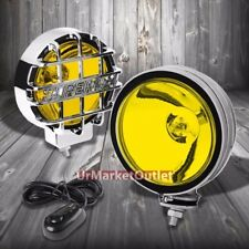 "6"" Round Chrome Body Housing Yellow Fog Light/Super 4x4 Offroad Guard Work Lamp"