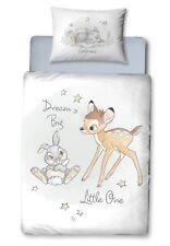 Disney Bambi Baby/Kinder Bettwäsche Renforce 40x60 + 100x135 cm 100% Baumwolle