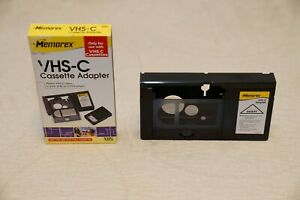 Memorex VHS-C Cassette Tape Adapter - VHS-C To  VHS Or S-VHS VCR Adapter