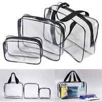 Clear Transparent Plastic PVC Cosmetic Make Up Toiletry Zipper Bag Travel Pouch