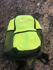 Nike Brasilia Training Backpack Volt/Black BA5329 702 Book Bag School