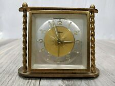 VINTAGE BRASS WALTHAM ALARM CLOCK, MADE IN GERMANY- WORKS WELL
