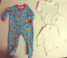 Gerber Christmas Footed Sleeper Pajama PLUS 2 Long Sleeve One Pieces 12 Mo #6066