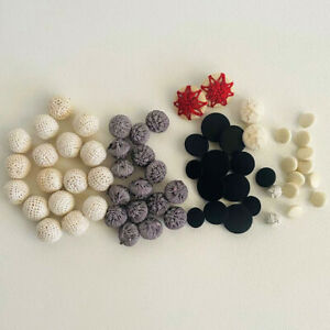 Lot of Assorted Braided Crochet Black and white Buttons for sewing, arts & craft
