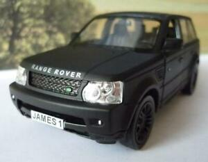 PERSONALISED PLATE Matte Black RANGE ROVER SPORT Boys Dad Toy Model Boxed