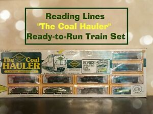 """Limited Edition Reading Lines """"the Coal Hauler"""" HO Electric Ready-to-Run Train"""