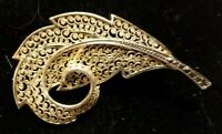Vintage Sterling Silver Germany Alice Caviness Filigree Leaf Pin Brooch