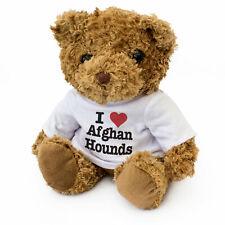 NEW - I LOVE AFGHAN HOUNDS - Teddy Bear - Cute Cuddly - Dog Gift Present