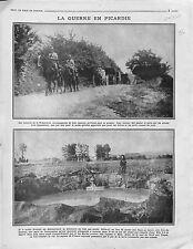 Convoi Voiture Trésorerie Cavalerie Escorte Poilus Bataille de Picardie 1916 WWI
