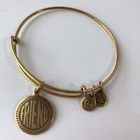 "ALEX AND ANI ""FRIEND"" WORDS ARE POWERFUL WRAP BRACELET Gold Tone 2009"