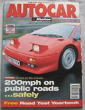 AUTOCAR 26/2/1992 featuring Lamborghini, Mercedes 190E 2.3-16, BMW M3, Cosworth