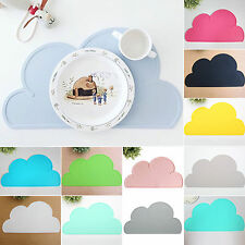 One-Piece Silicone Mat Baby Kids Table Food Tray Placemats Plate Bowl Dish Plate