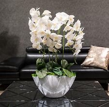 Künstliche Orchideen XXL 70cm Kunstblumen Übertopf Fensterschmuck Blumengesteck