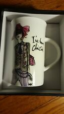"I've been chiced 6"" porcelain mug"