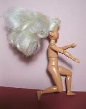 """Vtg 1990s 7"""" Stacie Doll Gymnast Jointed nude w/ Earrings-gymnastics stacey"""