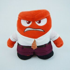 """Disney Pixar Inside Out ANGER 6"""" Plush Stuffed Animal Toy Red Angry Guy Emotion"""