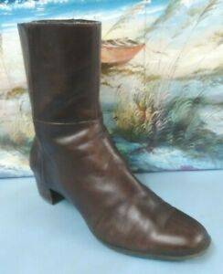 Enzo Angiolini Women's Eastrut  Ankle Brown Leather Size 7.5 M  Booties  0908